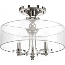 Progress P350029-104 - Marche' Collection Three-light semi-flush convertible