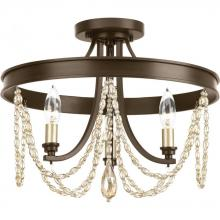 Progress P350030-020 - Allaire Collection Three-Light Semi-Flush Convertible