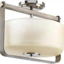 Progress P350041-009 - Aspen Creek Collection Two-Light Semi-Flush Convertible