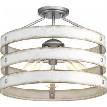 "Progress P350049-141 - Gulliver Collection Collection Three-Light 17"" Semi-Flush Convertible"