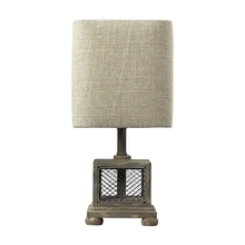 Elk Home 93-9150 - Delambre Mini Table Lamp in Montauk Grey with Chicken Wire