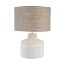 Elk Home D2950 - Rockport Table Lamp in Polished Concrete with Burlap Shade - Wide
