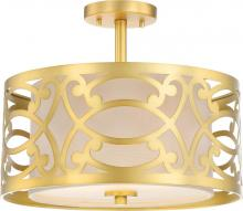 "Nuvo 60/5967 - 2 LIGHT - 15"" SEMI FLUSH FIXTU"
